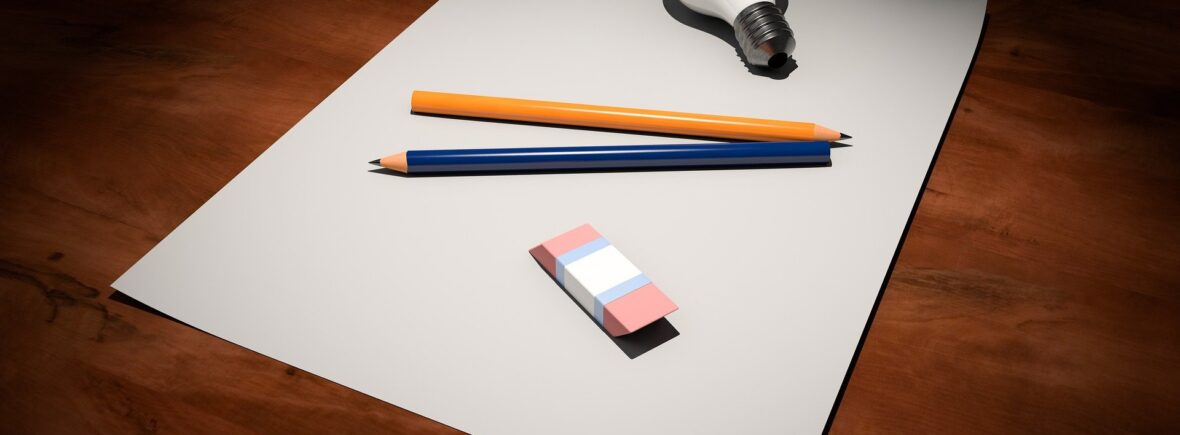 Paper, pens and a lightbulb